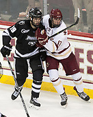 Jake Walman (PC - 19), David Cotton (BC - 17) - The Boston College Eagles defeated the visiting Providence College Friars 3-1 on Friday, October 28, 2016, at Kelley Rink in Conte Forum in Chestnut Hill, Massachusetts.The Boston College Eagles defeated the visiting Providence College Friars 3-1 on Friday, October 28, 2016, at Kelley Rink in Conte Forum in Chestnut Hill, Massachusetts.
