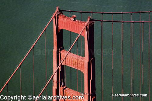 aerial photograph Golden Gate bridge San Francisco California