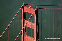 aerial photograph Golden Gate bridge San Francisco California
