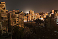 Sunday 12 July, 2015: An historial site of residential tower-houses obliterated by a bomb are seen after they were targeted, accordingly with witnesses, by a fighter jet of the Saudi-led coalition in the old city of Sana'a last June 12, 2015. Five residents were killed and four house-buildings reduced to rubble during the early-morning attack that endangered the 2,500-year-old cultural heritage site. The attack, condemned by the international community, is part of the campaign of bombardments by the coalition of Arab states and their western allies led by Saudi Arabia to tackle the Houthi insurgency that removed from power to the former president Abd Rabbuh Mansur Hadi. (Photo/Narciso Contreras)
