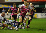 Richard Mustoe breaks for Cardiff. Cardiff Blues V Bath, EDF Energy Cup. &copy; Ian Cook IJC Photography iancook@ijcphotography.co.uk www.ijcphotography.co.uk
