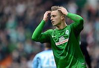 FUSSBALL   1. BUNDESLIGA   SAISON 2012/2013    26. SPIELTAG SV Werder Bremen - Greuther Fuerth                        16.03.2013 Marko Arnautovic (SV Werder Bremen) ist nach einer vergebenen Torchance enttaeuscht