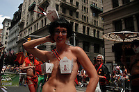People take part during the Gay Pride Parade march in New York June 24, 2012. Photo by Kena Betancur / VIEWpress..