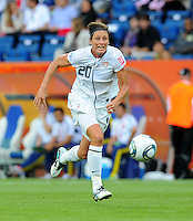 Abby Wambach of team USA during the FIFA Women's World Cup at the FIFA Stadium in Sinsheim, Germany on July 2nd, 2011.