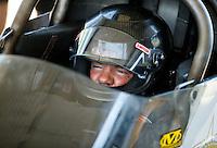 May 14, 2016; Commerce, GA, USA; NHRA top fuel driver Terry Haddock during qualifying for the Southern Nationals at Atlanta Dragway. Mandatory Credit: Mark J. Rebilas-USA TODAY Sports