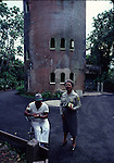 Forest service employees at tower in El Yunque