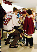 Kyle Kucharski (BC 18) - The Boston College Eagles celebrated their NCAA D-1 National Championship with their fans at Kelley Rink in Conte Forum in Chestnut Hill, Massachusetts on Monday, April 14, 2008.  The Eagles conducted an autograph session, followed by an on-ice ceremony and more autographs.
