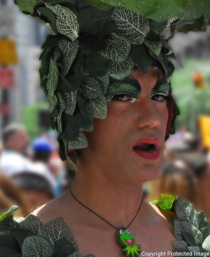 New York City Gay Pride Parade, Flamboyant Greenery<br />