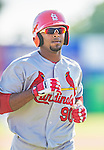 8 March 2013: St. Louis Cardinals outfielder Anthony Garcia in action during a Spring Training game against the Washington Nationals at Space Coast Stadium in Viera, Florida. The Cardinals defeated the Nationals 16-10 in Grapefruit League play. Mandatory Credit: Ed Wolfstein Photo *** RAW (NEF) Image File Available ***