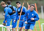 St Johnstone Training&hellip;..21.10.16<br />Chris Millar pictured during training ahead of Sunday&rsquo;s game against local rivals Dundee<br />Picture by Graeme Hart.<br />Copyright Perthshire Picture Agency<br />Tel: 01738 623350  Mobile: 07990 594431