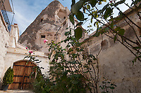 Goreme, Cappadocia, Nevsehir, Turkey, November 2011. The walkway up from the street  to the house between the inner and outer gate. Dutch Photographer Frits Meyst and his wife Jillian Macdonald restored an old rock house in the village of Goreme. Since Roman times people have been cutting graves and homes out of the Soft tufo 'Fairy Chimney' rocks of Cappadocia. Photo by Frits Meyst / MeystPhoto.com