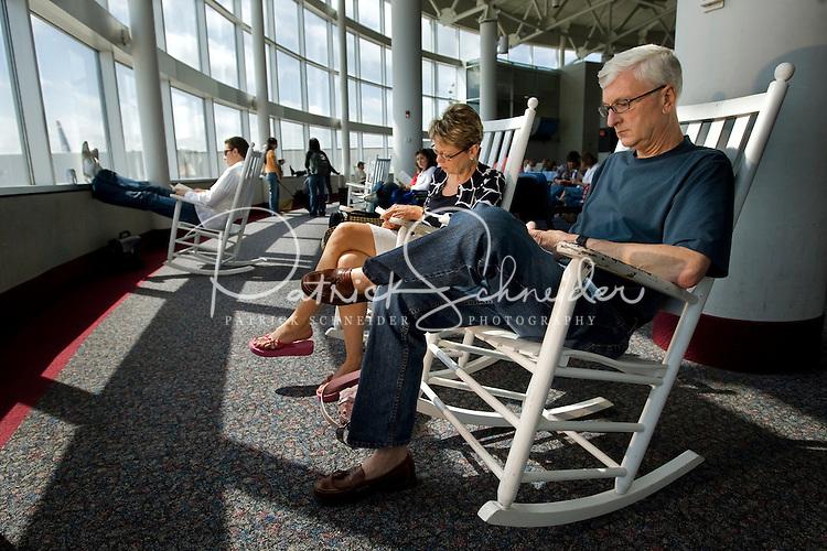 enjoy Charlotte-Douglas International Airports famous rocking chairs ...