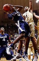 WEST LAFAYETTE, IN - DECEMBER 01: Semaj Christon #0 of the Xavier Musketeers shoots the ball against Jacob Lawson #34 of the Purdue Boilermakers at Mackey Arena on December 1, 2012 in West Lafayette, Indiana. Xavier defeated Purdue 63-57. (Photo by Michael Hickey/Getty Images) *** Local Caption *** Semaj Christon; Jacob Lawson