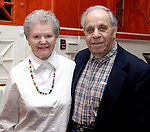 WATERBURY, CT - 31 March 2004 - 033104TH07 - Francis (Class of '49) and Eunice Macary of Waterbury pose at the preview party for the Sacred Heart High School Spring Musical preview party at the Mattatuck Museum in Waterbury.   TODD HOUGAS PHOTO