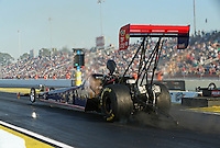 Mar. 15, 2013; Gainesville, FL, USA; NHRA top fuel dragster driver Ike Maier during qualifying for the Gatornationals at Auto-Plus Raceway at Gainesville. Mandatory Credit: Mark J. Rebilas-