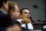 ******FOR MAGAZINE*******.Carlos Ghosn, president and CEO of Nissan Motor Co. holds a meeting with members of the company's electric car steering committee at the automaker's headquarters in Yokohama, Japan on Monday 19 Oct.  2009. .Photographer: Robert Gilhooly/Bloomberg News