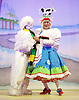 Jack and the Beanstalk <br /> by Susie McKenna with music by Steven Edis <br /> at the Hackney Empire, London, Great Britain <br /> press photocall <br /> 25th November 2015  <br /> <br /> Clive Rowe as Dame Daisy Trott<br /> <br /> <br /> Kat B as Snowman<br /> <br /> <br /> <br /> <br /> Photograph by Elliott Franks <br /> Image licensed to Elliott Franks Photography Services