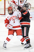 Kasey Boucher (BU - 3), ? - The Northeastern University Huskies tied Boston University Terriers 3-3 in the 2011 Beanpot consolation game on Tuesday, February 15, 2011, at Conte Forum in Chestnut Hill, Massachusetts.