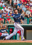 11 March 2016: Atlanta Braves first baseman Freddie Freeman in action during a Spring Training pre-season game against the Philadelphia Phillies at Champion Stadium in the ESPN Wide World of Sports Complex in Kissimmee, Florida. The Phillies defeated the Braves 9-2 in Grapefruit League play. Mandatory Credit: Ed Wolfstein Photo *** RAW (NEF) Image File Available ***