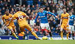 Michael O'Halloran takes on the Motherwell defence