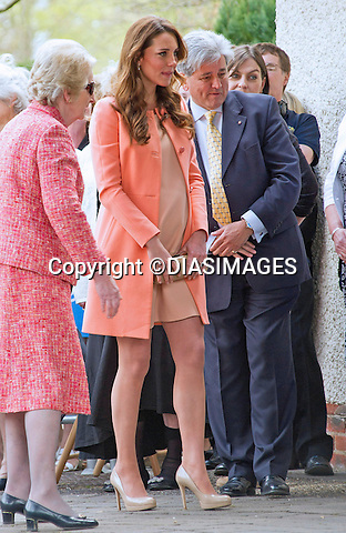 """CATHERINE, DUCHESS OF CAMBRIDGE ON 2ND WEDDING  ANNIVERSARY .makes solo visit to Naomi House Children's Hospice, Winchester_29/04/2013.Today is the 2nd anniversary of her marriage to Prince William..The Duchess is 7 months into her pregnancy..Mandatory credit photo:©DiasImages/NEWSPIX INTERNATIONAL..**ALL FEES PAYABLE TO: """"NEWSPIX INTERNATIONAL""""**..PHOTO CREDIT MANDATORY!!: NEWSPIX INTERNATIONAL(Failure to credit will incur a surcharge of 100% of reproduction fees)..IMMEDIATE CONFIRMATION OF USAGE REQUIRED:.Newspix International, 31 Chinnery Hill, Bishop's Stortford, ENGLAND CM23 3PS.Tel:+441279 324672  ; Fax: +441279656877.Mobile:  0777568 1153.e-mail: info@newspixinternational.co.uk"""