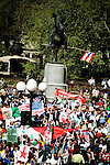Thousands of immigrants and their supporters rallied around the city today in solidarity, marking the &quot;Day Without Immigrants&quot; celebrations nationwide. Walkouts, strikes and rallies were stages to show support for the legalization of undocumented workers.. Rally in Union Square in Manhattan.<br />