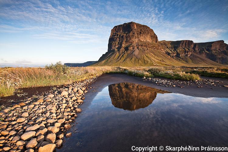 Mountain Lómagnúpur (767 m) on Skeiðarársandur, south coast Iceland.