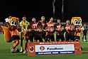 "Omiya Ardija team group line-up,..AUGUST 7, 2011 - Football / Soccer :..Omiya Ardija players (Top row - L to R) Takashi Kitano, Takuya Aoki, Rafael, Kim Young-Gwon, Yosuke Kataoka, Lee Chun-Soo, (Bottom row - L to R) Arata Sugiyama, Kota Ueda, Kazuhiro Murakami and Chikara Fujimoto pose for a team photo with the club mascots ""Ardi""(R) and ""Miya""(L) before the 2011 J.League Division 1 match between Omiya Ardija 2-2 Vegalta Sendai at NACK5 Stadium Omiya in Saitama, Japan. (Photo by Hiroyuki Sato/AFLO)"