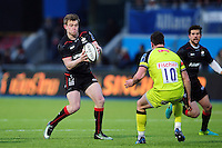 Nick Tompkins of Saracens in possession. Anglo-Welsh Cup match, between Saracens and Leicester Tigers on February 5, 2017 at Allianz Park in London, England. Photo by: Patrick Khachfe / JMP