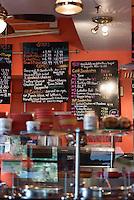 Small sandwich shop interior, USA