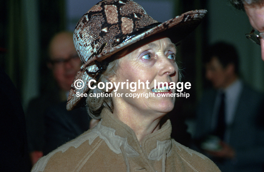 Mrs Donald Murray, wife of Justice Donald Murray, N Ireland High Court, 19850025DM2..Copyright Image from Victor Patterson, 54 Dorchester Park, Belfast, UK, BT9 6RJ..Tel: +44 28 9066 1296.Mob: +44 7802 353836.Voicemail +44 20 8816 7153.Skype: victorpattersonbelfast.Email: victorpatterson@mac.com.Email: victorpatterson@ireland.com (back-up)..IMPORTANT: If you wish to use this image or any other of my images please go to www.victorpatterson.com and click on the Terms & Conditions. Then contact me by email or phone with the reference number(s) of the image(s) concerned.
