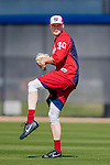 27 February 2017: Washington Nationals pitcher Koda Glover warms up during a Spring Training workout at the Ballpark of the Palm Beaches in West Palm Beach, Florida. Mandatory Credit: Ed Wolfstein Photo *** RAW (NEF) Image File Available ***