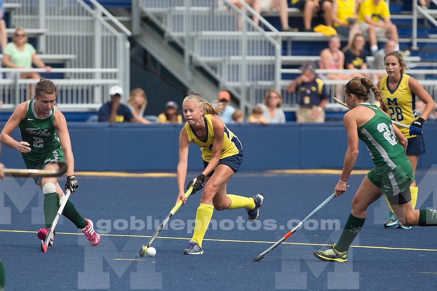 The University of Michigan Field Hockey team defeats William and Mary, 2-0, at Ocker Field on Sept. 6, 2014.