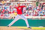 9 March 2013: Washington Nationals pitcher Ryan Perry on the mound during a Spring Training game against the Miami Marlins at Space Coast Stadium in Viera, Florida. The Nationals edged out the Marlins 8-7 in Grapefruit League play. Mandatory Credit: Ed Wolfstein Photo *** RAW (NEF) Image File Available ***