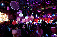 Brooklyn, NY - February 18, 2015: Balloons dropped at the end of a performance by rapper Talib Kweli at a party hosted by Mediacom at Brooklyn Bowl in Williamsburg. The event celebrated the advertising firm's winning the title of Agency of the Year.<br /> <br /> CREDIT: Clay Williams for Mediacom.<br /> <br /> &copy; Clay Williams / claywilliamsphoto.com