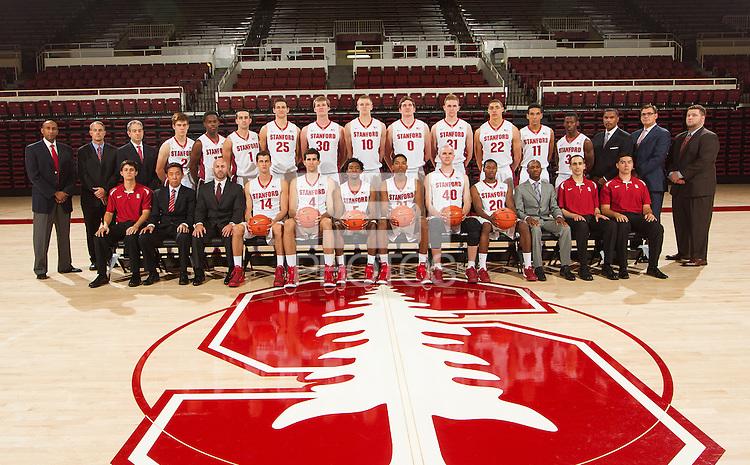 STANFORD, CA - AUGUST 12, 2014-- Stanford Men's Basketball team.
