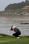 FredCouples at the 4th green at Pebble Beach Golf Links. First Tee Open
