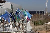 Forum Esplanade, Barcelona, Catalonia, Spain; 2004; José Antonio Martinez Lapeña (Tarragona, Spain, 1941) and Elías Torres Tur (Ibiza, Spain, 1944); Finalist of the European Union Prize for Contemporary Architecture - 2005 Mies Van der Rohe Prize. Picture by Manuel Cohen