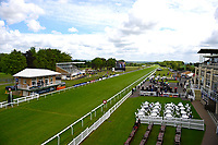 The racecourse prior to racing starting during Afternoon Racing at Salisbury Racecourse on 18th May 2017