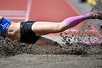 Portia Bing in action during the Athletics - NZ Track and Field Championships at Newtown Park, Newtown, New Zealand on Friday 6 March 2015. <br /> Photo by Masanori Udagawa. <br /> www.photowellington.photoshelter.com.