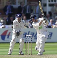 Photo Peter Spurrier.31/08/2002.Cheltenham & Gloucester Trophy Final - Lords.Somerset C.C vs YorkshireC.C..Somerset batting Peter Bowler (blue helmet)