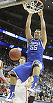 Josh Harrellson dunks the ball in UK's third game of the 2011 NCAA Basketball Tournament, at the Prudential Center, in Newark, NJ, on Saturday, March 25, 2011.  Photo by Latara Appleby | Staff