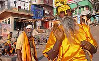 Begging guru, Benares, India