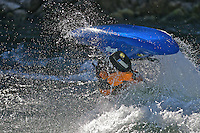 Kayaker on Snake River - Jackson - Wyoming - USA