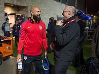 San Jose, Ca - Friday March 24, 2017: Tim Howard Kasey Keller during the USA Men's National Team defeat of Honduras 6-0 during their 2018 FIFA World Cup Qualifying Hexagonal match at Avaya Stadium.
