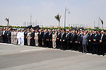 Egyptian president Abdel-Fattah el-Sissi, center, attends the funeral for Hisham Barakat, surrounded by his family members, the top judicial official in charge of overseeing the prosecution of thousands of Islamists, including former President Mohammed Morsi, on June 30, 2015. The Egyptian president promised to speed up proceedings against extremists by amending laws and freeing up the judiciary, a day after the country s top prosecutor was killed in a car bombing. Photo by Egyptian Presidency \ apaimages