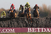 Echo India ridden by Mr W Kinsey leads during the PointToPoint.co.uk Hunters Chase - Horse Racing at Huntingdon Racecourse, Cambridgeshire - 23/02/12- MANDATORY CREDIT: Gavin Ellis/TGSPHOTO - Self billing applies where appropriate - 0845 094 6026 - contact@tgsphoto.co.uk - NO UNPAID USE.