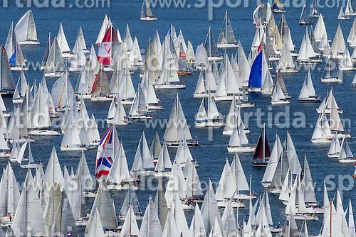 Boats compete during the Barcolana 43 sailing regatta hosted by Societa Velica di Barcola e Grignano on October 9, 2011, in Trst / Trieste Gulf, Italy.   (Photo by Vid Ponikvar / Sportida)