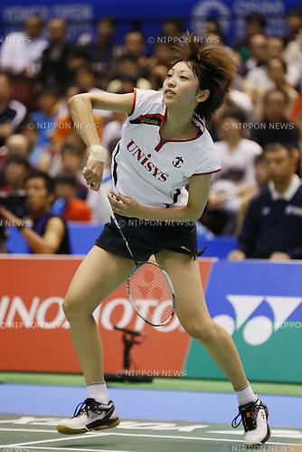 Shizuka Uchida (JPN), SEPTEMBER 22, 2013 - Badminton : Yonex Open Japan 2013 Women's Singles final at Tokyo Metropolitan Gymnasium, Tokyo, Japan. (Photo by Yusuke Nakanishi/AFLO SPORT) [1090]