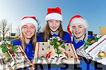 Castleisland Comunity College students  Aisling O'Connor, Danni Reidy and Siobhain Collins who have been making novel Christmas decorations